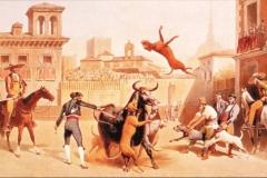 BULL-BAITING1835-by-Henri-Pierre-Léon-Pharamond-Blanchard-1805–1873