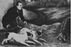 Ben-White-1836-running-his-Bulldogs-at-head-of-Bill-Gibbons-Bull.