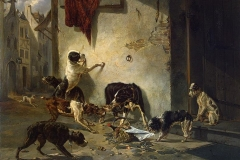 Dog-Carrying-Dinner-to-its-Master-Fable-by-La-Fontaine1846