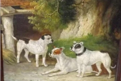 EARLY-BULLDOGSLATE-1800S-OIL-PAINTING