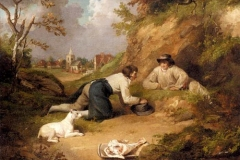 George-Morland-17631763–1804.-Two-men-hunting-rabbits-with-their-dog