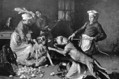 1896-Dogge-mit-Wurstschüssel-Wilhelm-Trübne